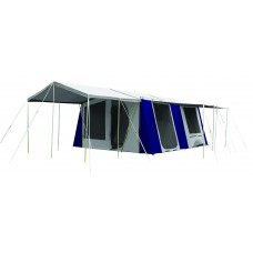 Coleman Tasman canvas frame tent. FREE  Sunroom valued at $699.99  Khaki/moss